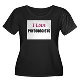 I Love PHYCOLOGISTS Women's Plus Size Scoop Neck D