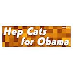 Hep Cats for Obama bumper sticker