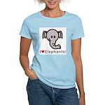 I Love Elephants Women's Light T-Shirt