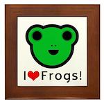 I Love Frogs Framed Tile
