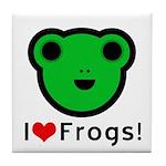 I Love Frogs Tile Coaster