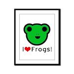 I Love Frogs Framed Panel Print
