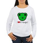I Love Frogs Women's Long Sleeve T-Shirt