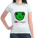 I Love Frogs Jr. Ringer T-Shirt