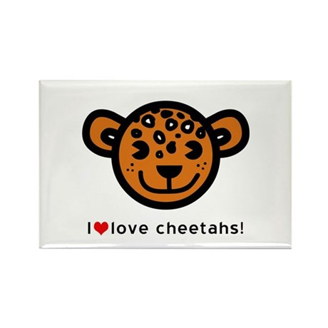I Love Cheetahs Rectangle Magnet