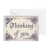 Thinking of You Greeting Cards (Pk of 10) by Leah