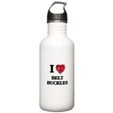 I Love Belt Buckles Water Bottle