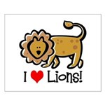 I Love Lions Small Poster