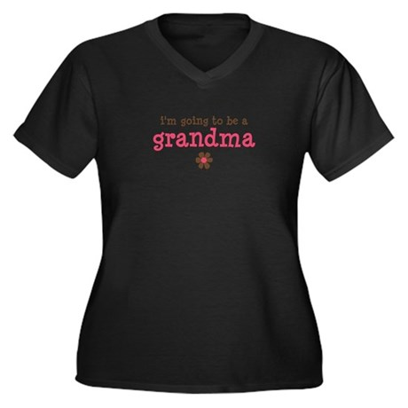 going to be a grandma Women's Plus Size V-Neck Dar