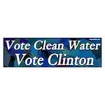 Vote Clean Water Vote Clinton sticker