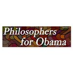 Philosophers for Obama bumper sticker