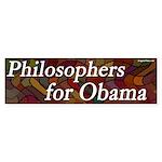 Philosophers for Obama bumper sticker
