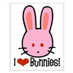 I Love Bunnies Small Poster