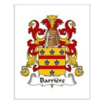 Barriere Family Crest Small Poster