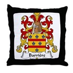 Barriere Family Crest Throw Pillow
