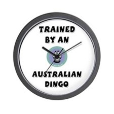 Trained by a Dingo Wall Clock