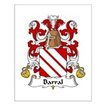 Barral Family Crest Small Poster