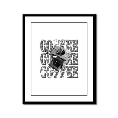 Coffee Grinder Framed Panel Print