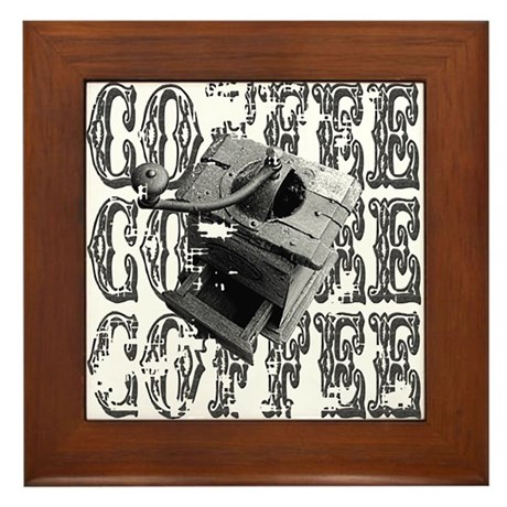 Coffee Grinder Framed Tile