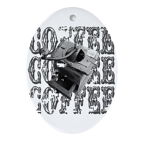 Coffee Grinder Oval Ornament