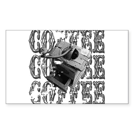 Coffee Grinder Rectangle Sticker