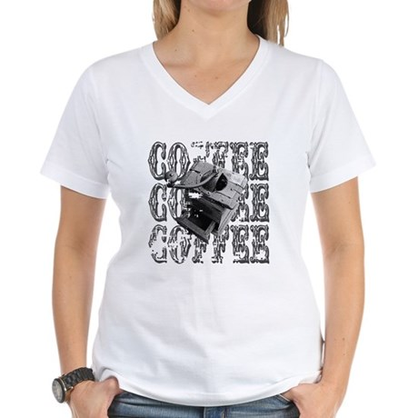 Coffee Grinder Women's V-Neck T-Shirt