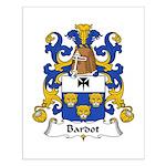 Bardot Family Crest Small Poster