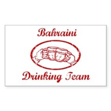 Bahraini Drinking Team Rectangle Decal
