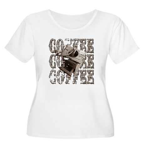 Coffee Grinder - Sepia Women's Plus Size Scoop Nec