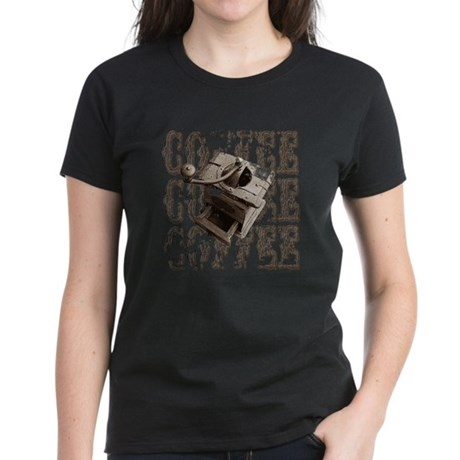 Coffee Grinder - Sepia Women's Dark T-Shirt