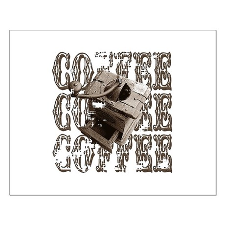 Coffee Grinder - Sepia Small Poster