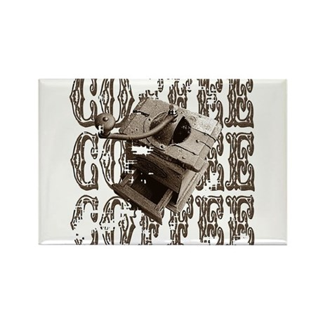 Coffee Grinder - Sepia Rectangle Magnet (100 pack)