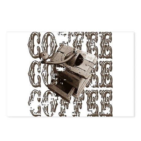 Coffee Grinder - Sepia Postcards (Package of 8)