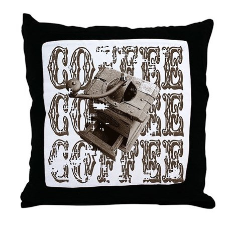 Coffee Grinder - Sepia Throw Pillow