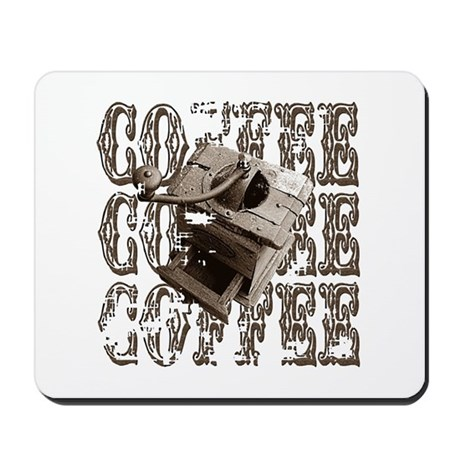 Coffee Grinder - Sepia Mousepad