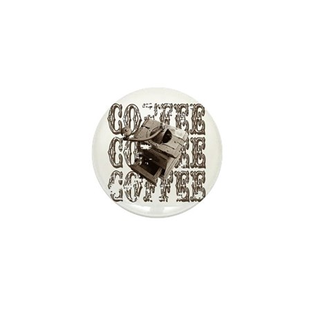 Coffee Grinder - Sepia Mini Button