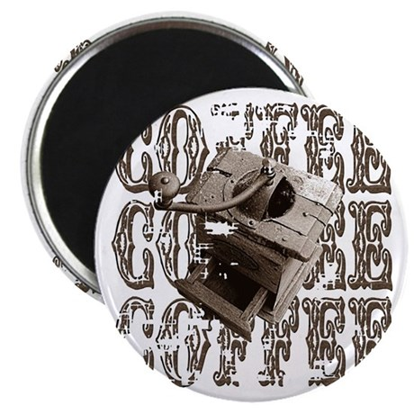 "Coffee Grinder - Sepia 2.25"" Magnet (100 pack)"