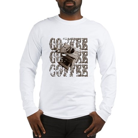 Coffee Grinder - Sepia Long Sleeve T-Shirt