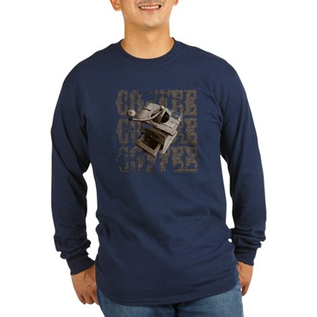 Coffee Grinder - Sepia Long Sleeve Dark T-Shirt