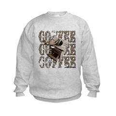Coffee Grinder - Sepia Kids Sweatshirt