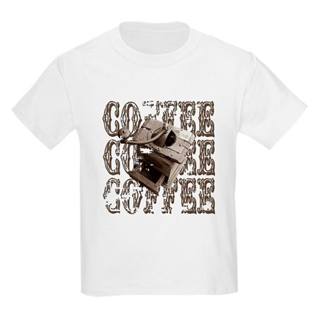 Coffee Grinder - Sepia Kids Light T-Shirt