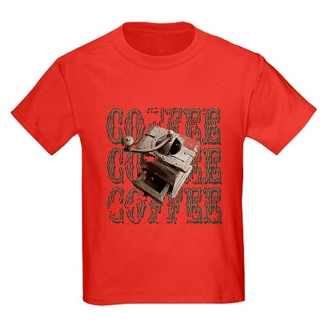 Coffee Grinder - Sepia Kids Dark T-Shirt