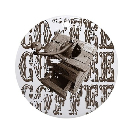 Coffee Grinder - Sepia Ornament (Round)
