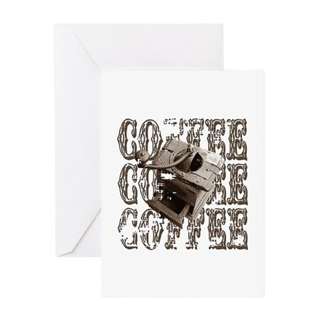 Coffee Grinder - Sepia Greeting Card