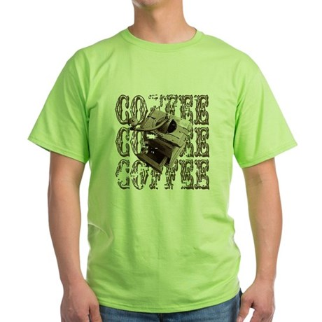 Coffee Grinder - Sepia Green T-Shirt