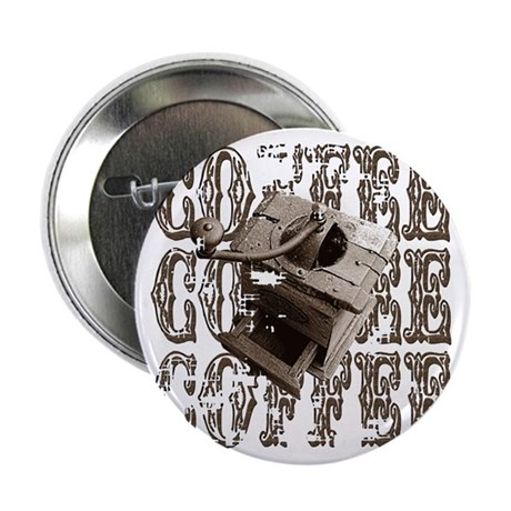 "Coffee Grinder - Sepia 2.25"" Button (100 pack)"