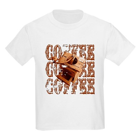 Coffee Grinder - Rich - Kids Light T-Shirt