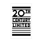 20th Century Limited Rectangle Decal