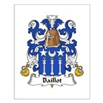 Baillot Family Crest Small Poster