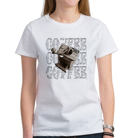 Coffee Grinder - White - Women's T-Shirt
